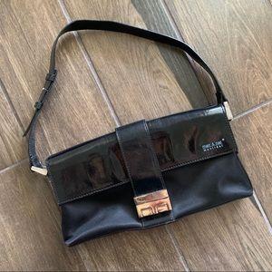 Matt & Nat Black Vegan Leather Shoulder Purse Bag